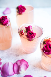 Rose lemon spritzer pink cocktail
