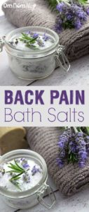 Homemade back pain bath salts