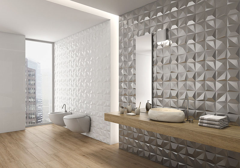 Dbathroomtiles DIYbunker - Metallic bathroom tiles