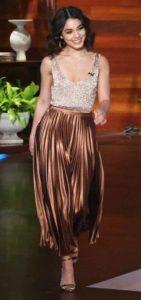 Vanessa Hudgens Metallic Skirt