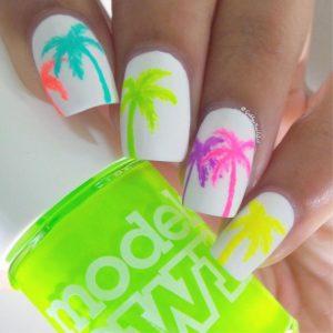 neon trees nail design
