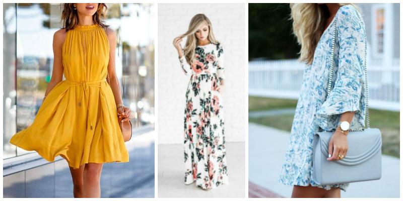 spring dresses flattering