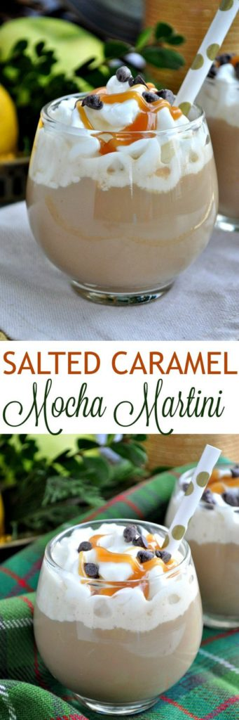 This salted caramel mocha martini is sure to give you a great kick if you are needing a coffee fix!