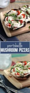 This portobello mushroom pizza is sure to keep you satisfied and healthy during your cravings!