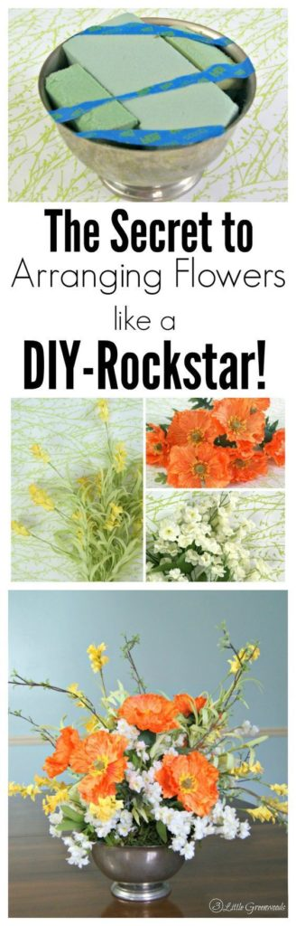 This spring floral arrangement DIY is super easy, cheap and adorable!