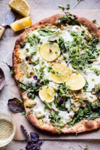 This whole wheat spinach and artichoke pizza will be sure to impress next time you are looking to prepare something healthy for your family and friends!