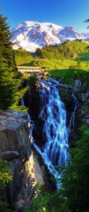 Myrtle Falls, located at Mt. Rainier National Park is one of the most amazing waterfalls you could ever imagine.