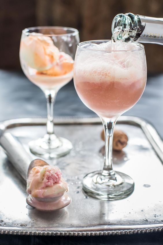 This rainbow sherbet champagne float looks stunning! I am sure it tastes just as good as it looks!