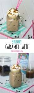 This skinny caramel iced latte looks AMAZING! If you are on a diet, no worries, this recipe has got your covered!