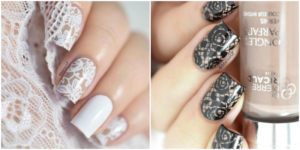 These lace nail art designs are GORGEOUS!