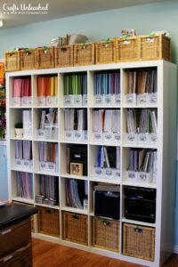 DIY Vertical Paper Storage
