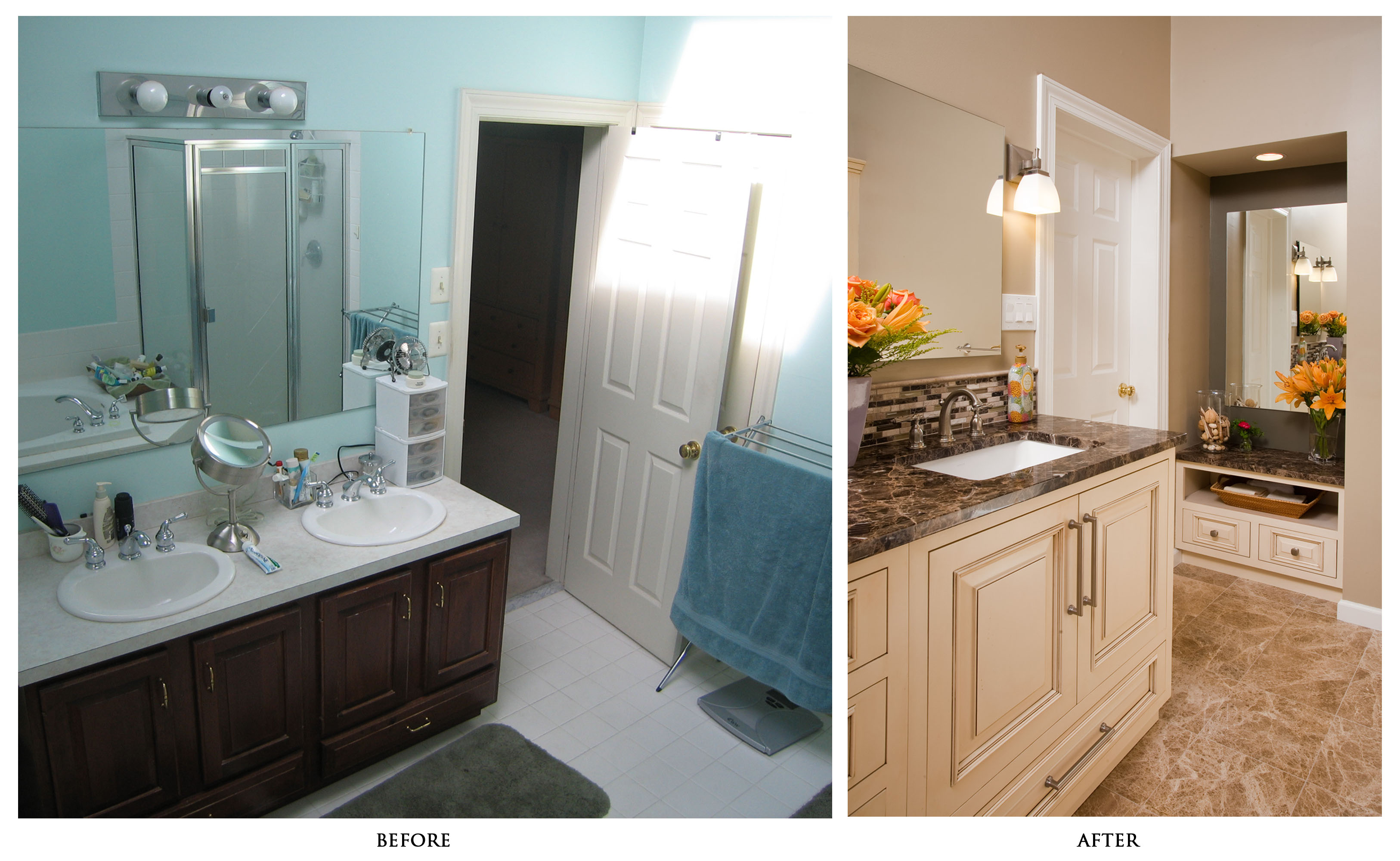 Beforeandafterdiybathroomrenovationideasmarvelousdiy - Bathroom remodel before and after pics