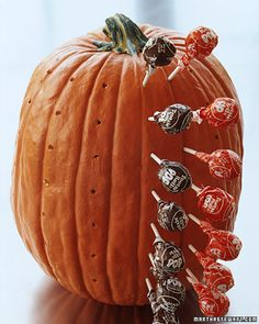 DIY Pumpkin Tootsie Pop Holder