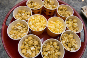 Mini Popcorn Cup Party Food Stations for Fall