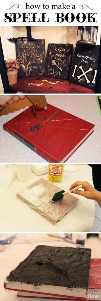 DIY Creative Spell Book Halloween Decor Idea