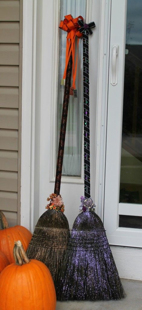 Wicked Witch Broom Halloween Decor
