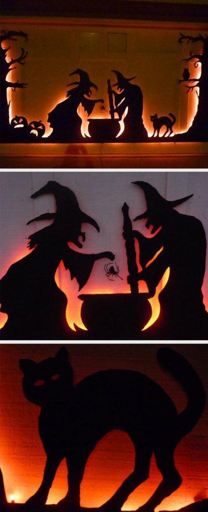 Halloween Witch Garage Decor