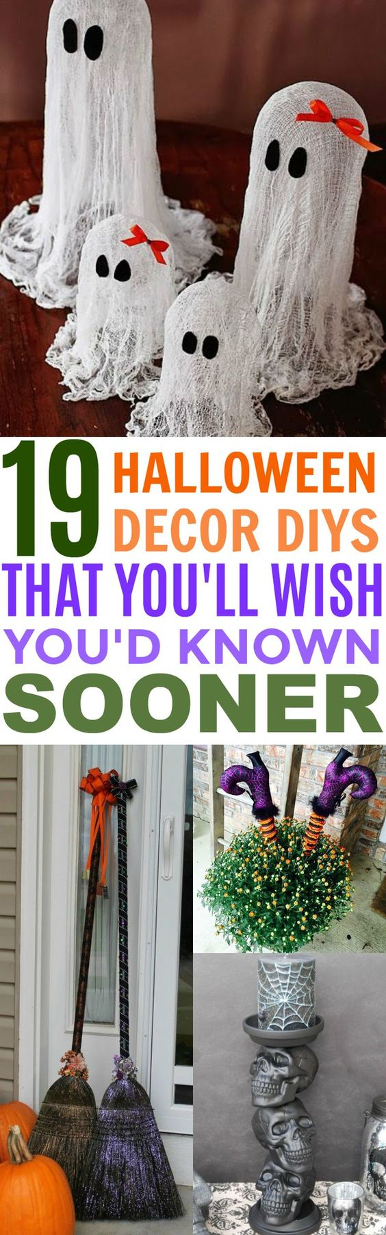 19 Spooktacular Halloween Decor DIYs You'll Wish You'd Known Sooner | Porch Ideas | Garage Decorations | Candle Holders | Goodie Bags