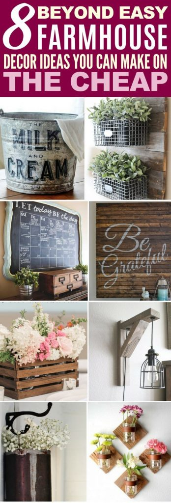 8 Farmhouse Decor Ideas You can Make on the Cheap