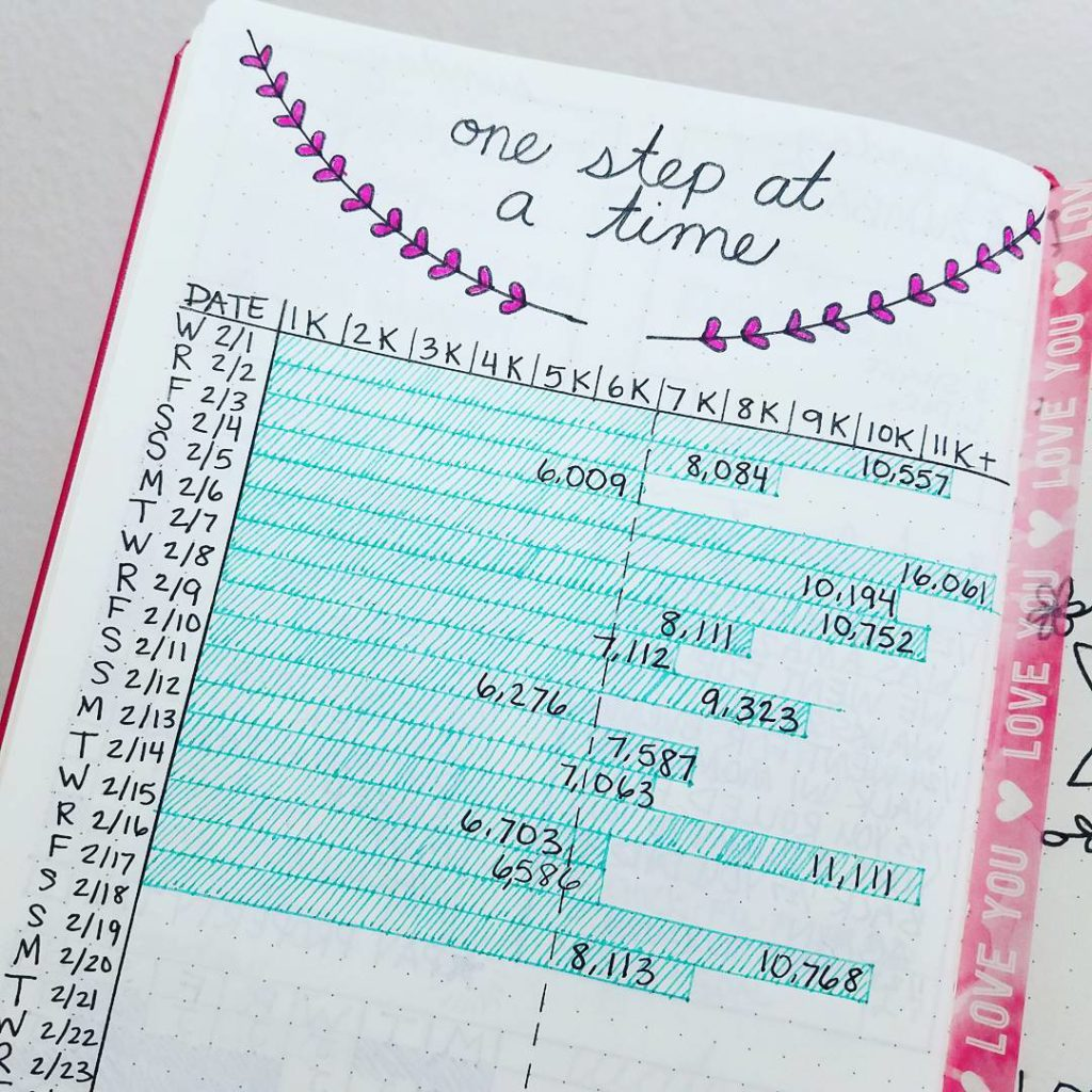 Step Counter Weight Loss Bullet Journal