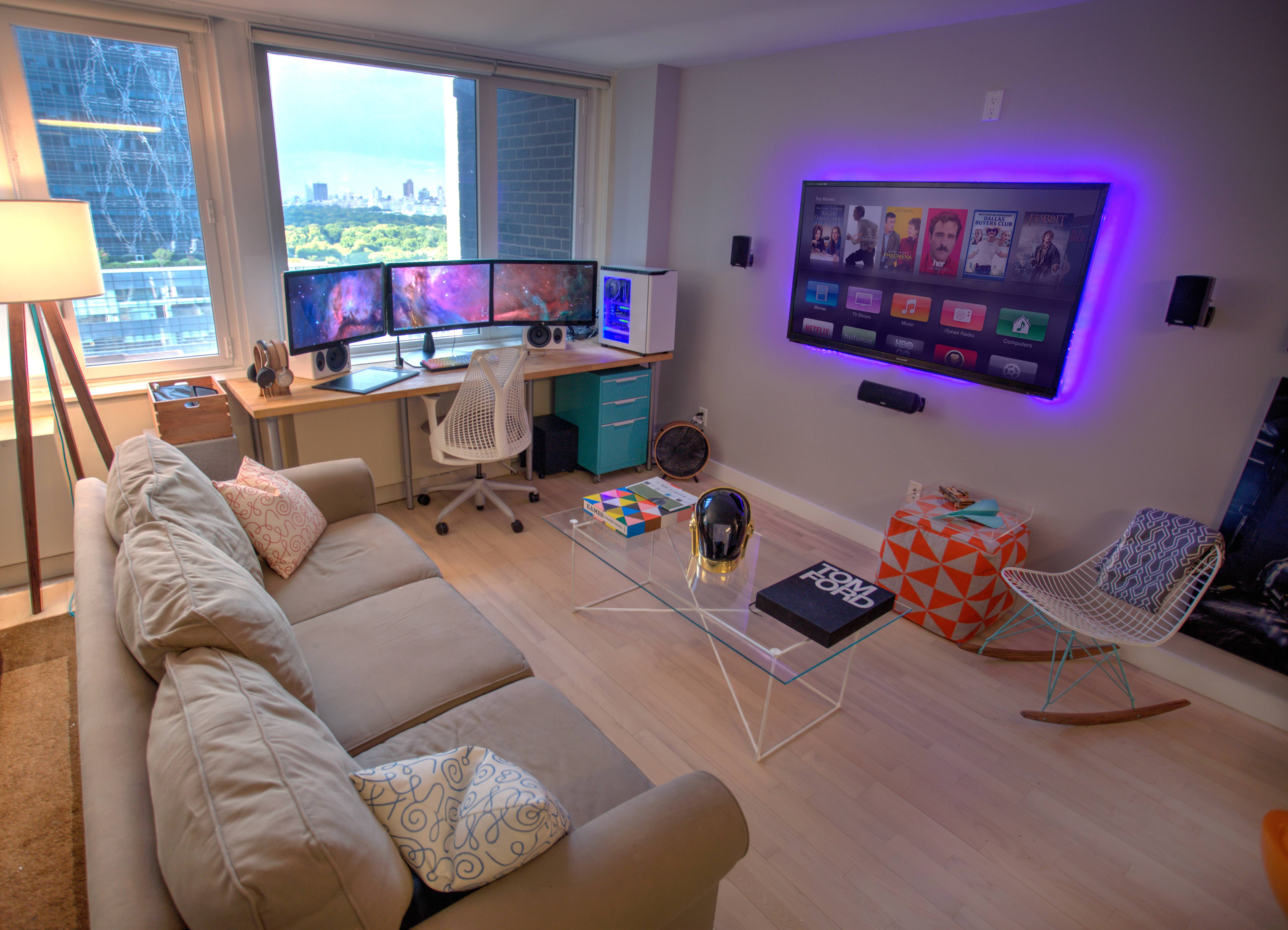 Small Space Video Game Room Setup