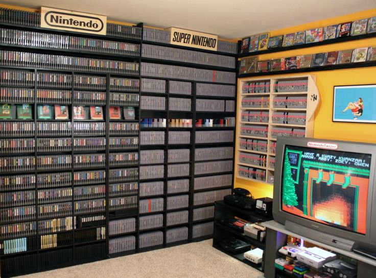 Nintendo Lover's Game Room Setup