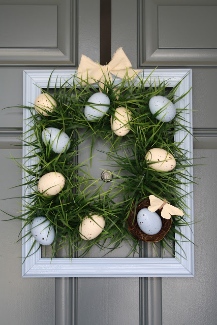Easter Frame Wreath with Eggs Craft