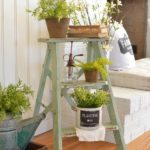 You won't be able to imagine the difference a little ladder and some plants can make to your front porch.