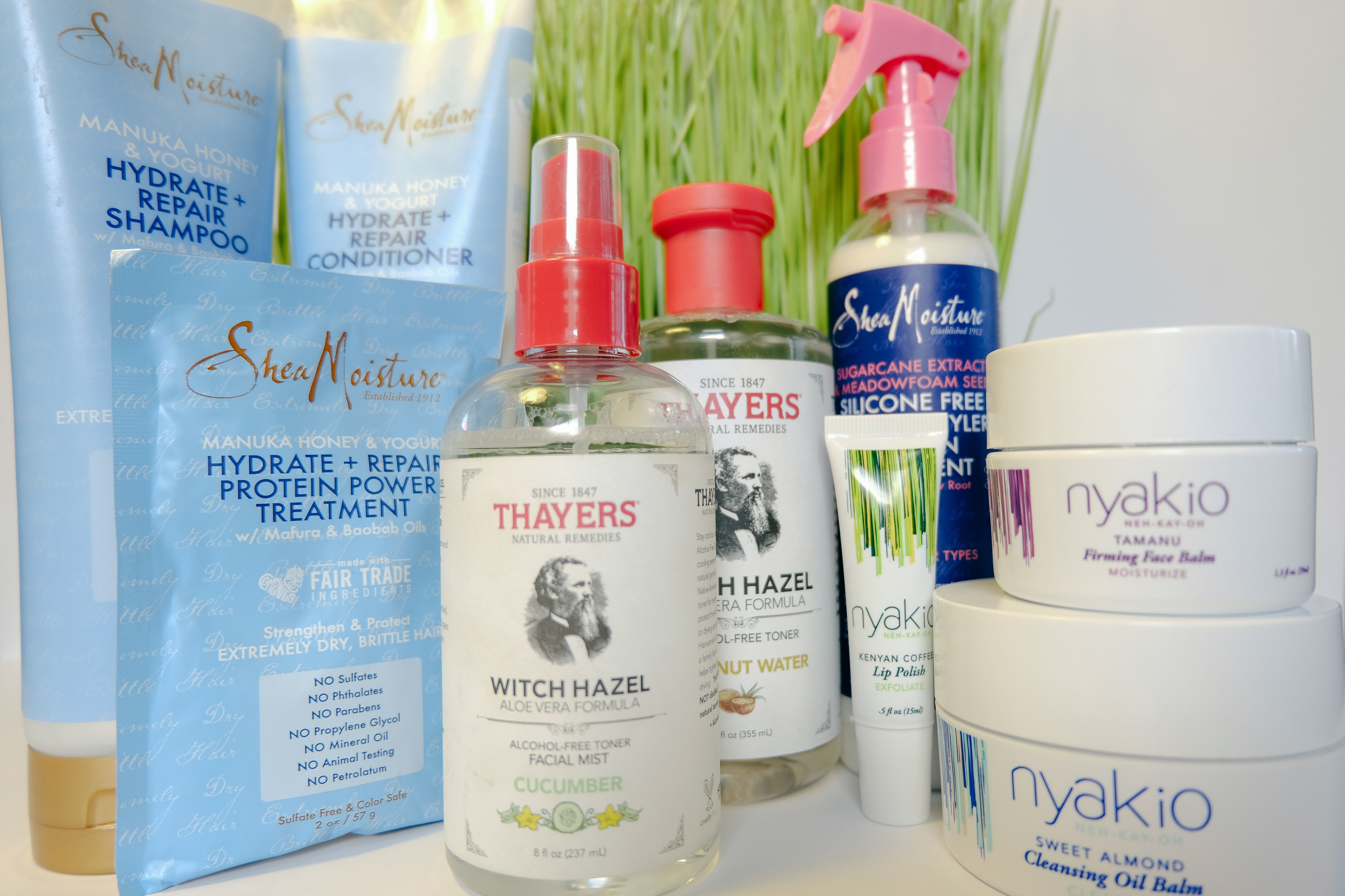 SheaMoisture, Thayers, and Nyakio Skincare and Hair Care Perfect For Dry Hair and Skin #HolyGrail #Skincare #Haircare #Beauty #SheaMoisture #Thayers #Nyakio