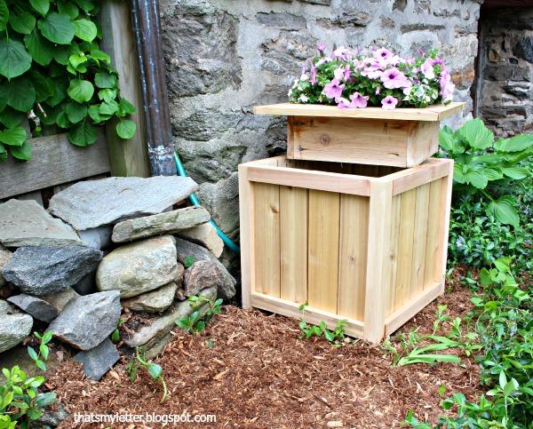 Hose Hiding Planter DIY