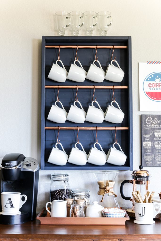 Hanging Mugs Coffee Bar