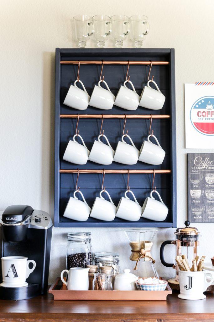 Hanging Mugs Coffee Bar