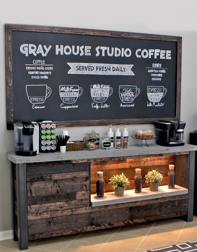 Black Chalkboard Coffee Bar