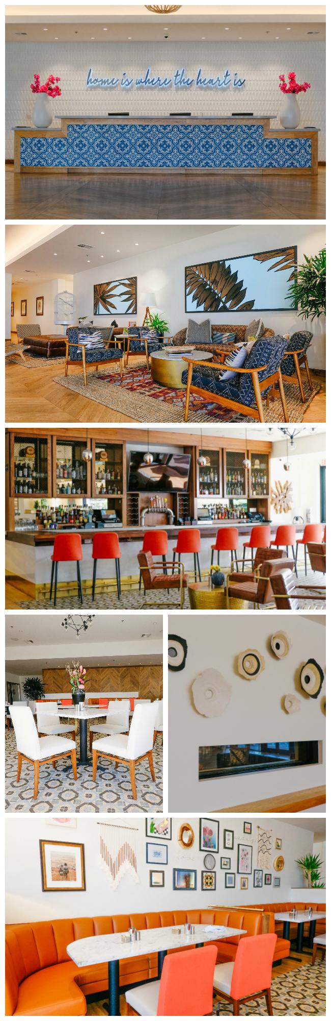 The beautiful lobby at Hotel Adeline in Scottsdale, AZ