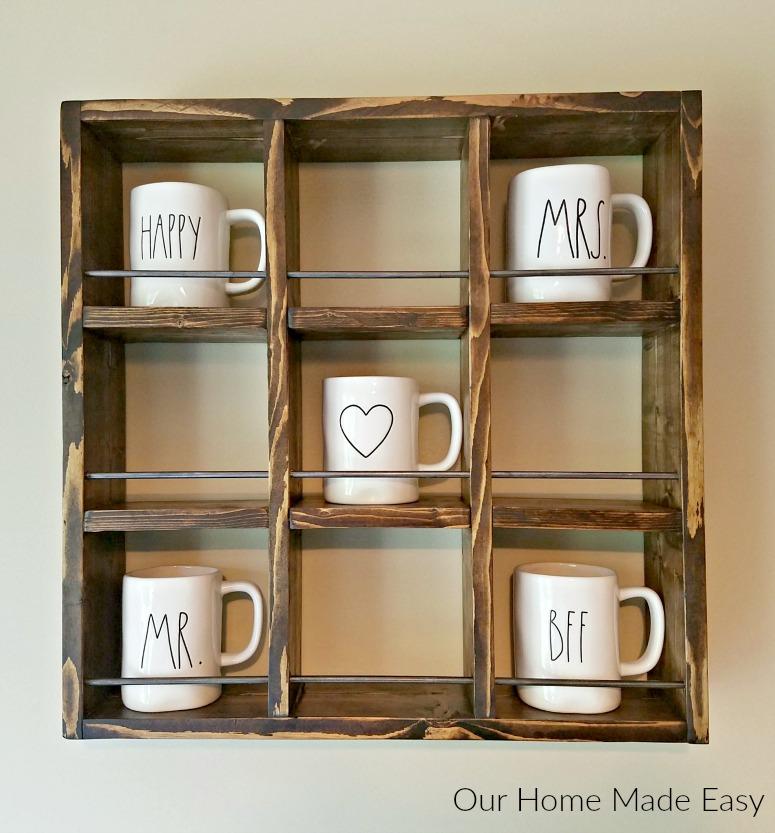 DIY Coffee Mug Shelving