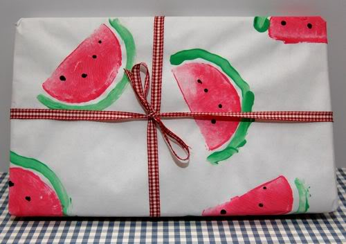 Watermelon Wrapping Paper DIY
