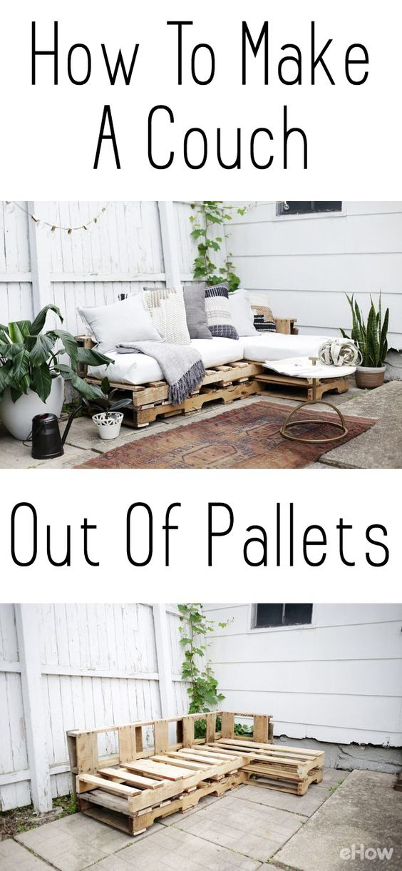 DIY Pallet Backyard Couch