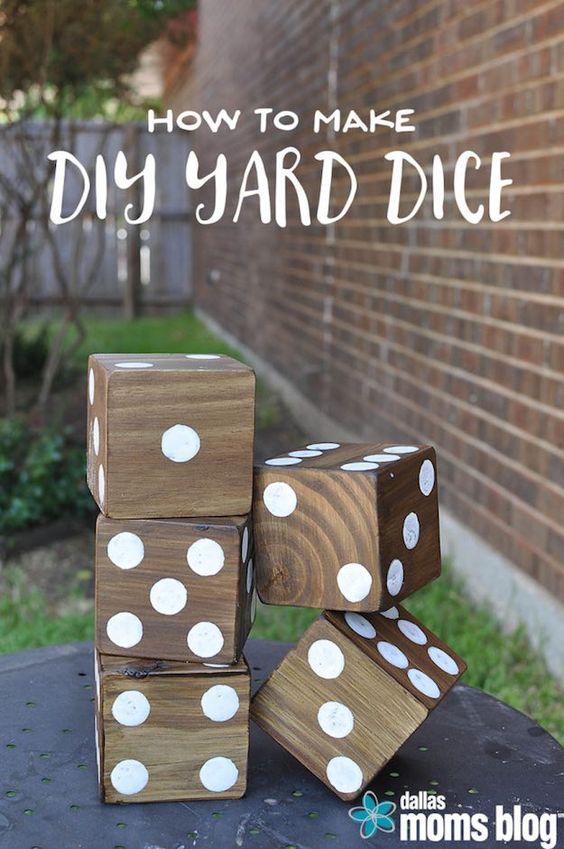 Outdoor Playing Dice DIY