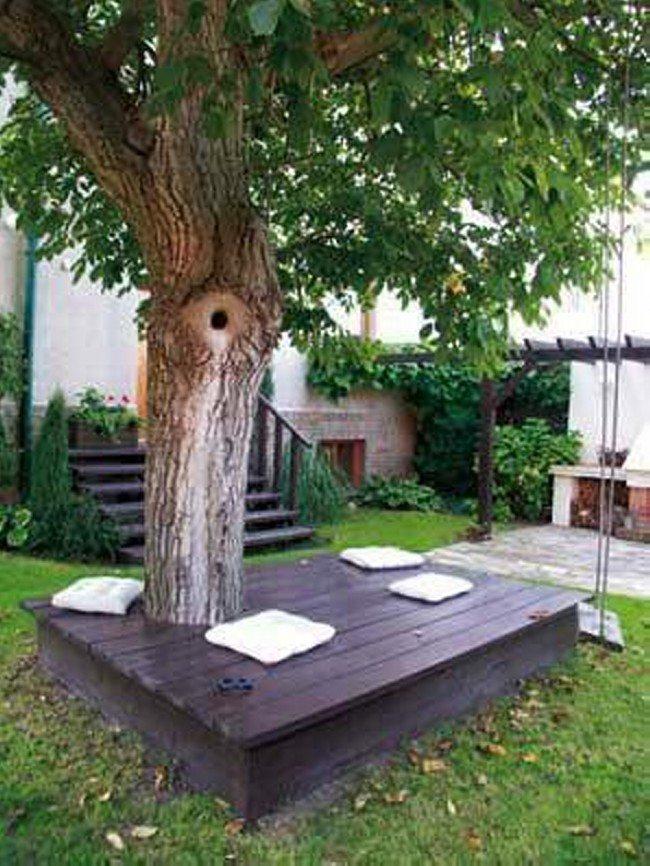 DIY Wrap Around Tree Table