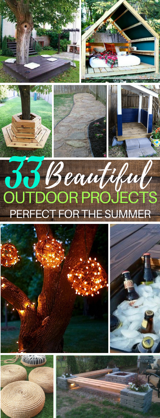 33 DIY Backyard Summer Projects You Can Try Today   DIY Benches   DIY Lights   Fire Pits   Water Park Backyard