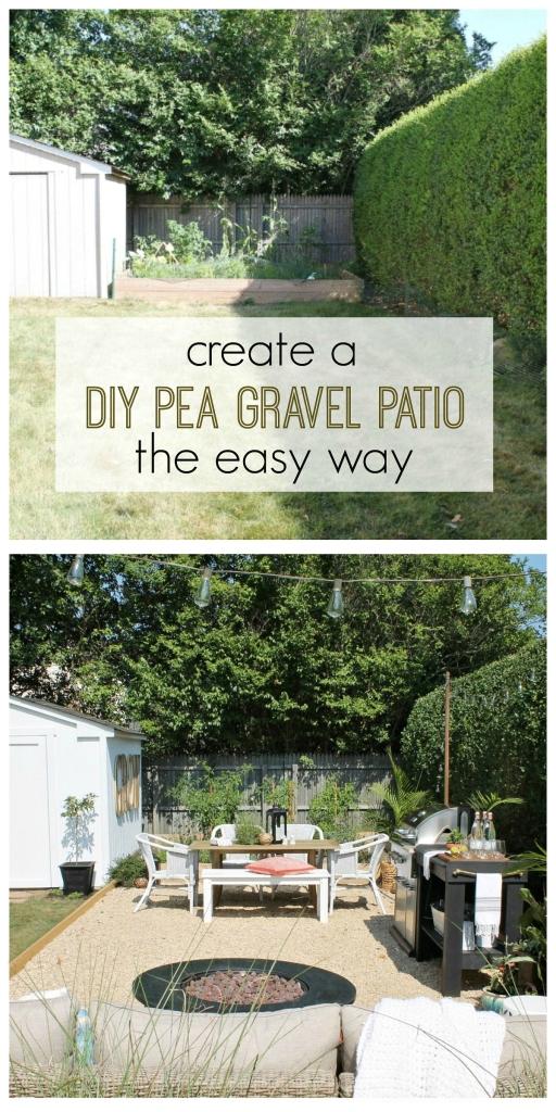 DIY Pea Gravel Patio