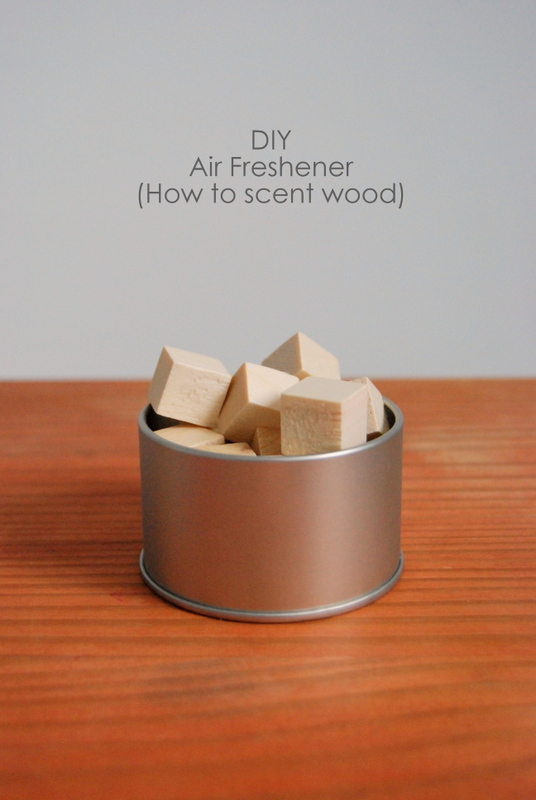 DIY Scented Wood With Essential Oils