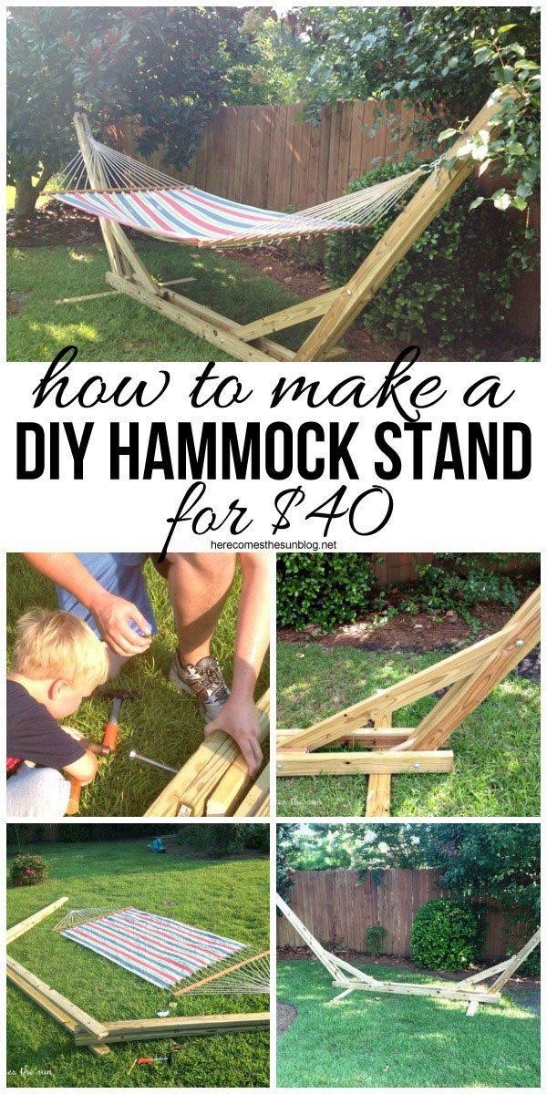 DIY Hammock Stand for $40
