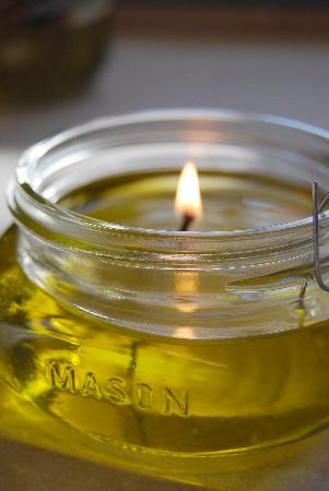 Olive OIl Candles DIY