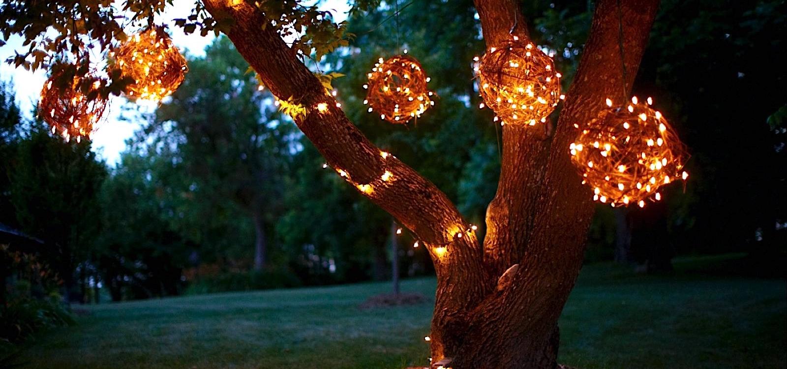 Grapevine Lighting Balls for Your Backyard