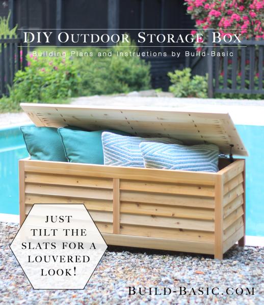 DIY Outdoor Storage Box