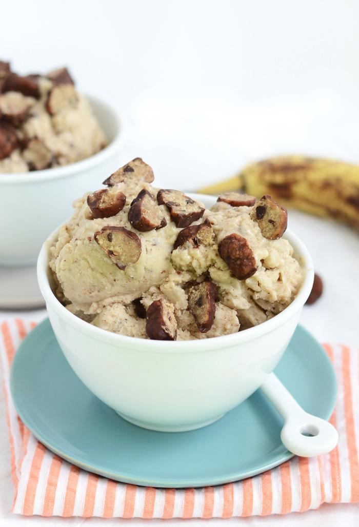 Cookie Dough Banana Soft Serve Nice Cream