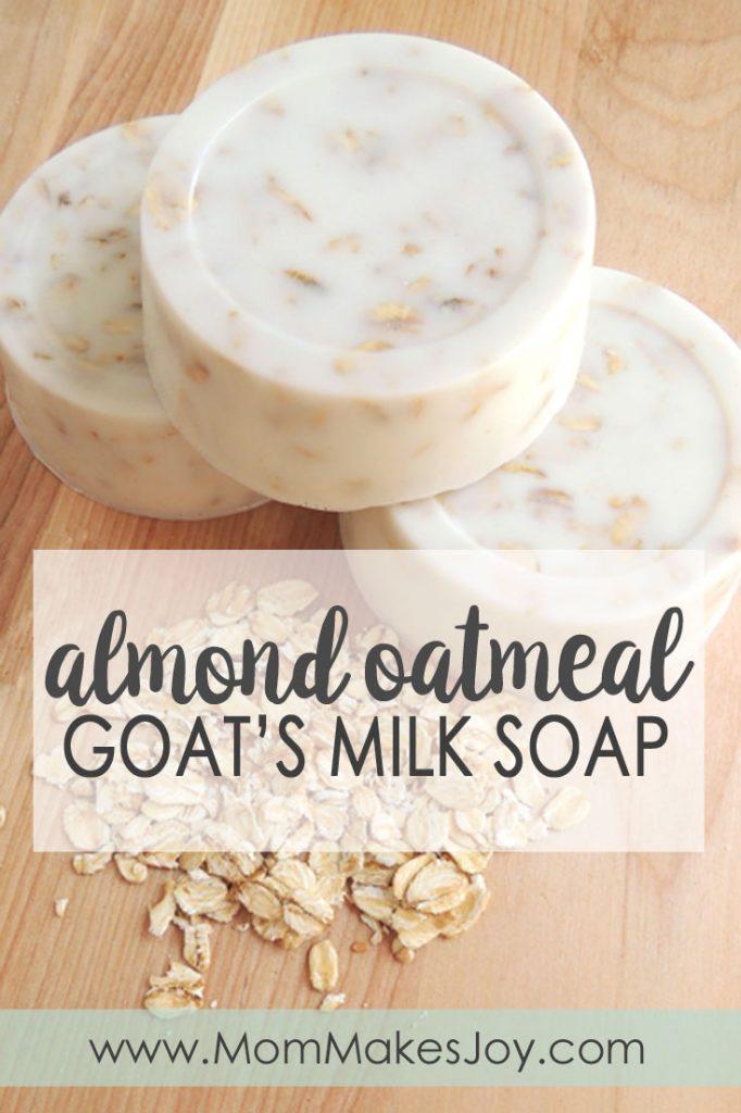Homemade Almond Oatmeal Goat's Milk Soap