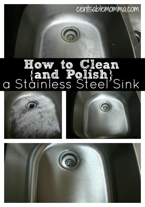 Cleaning the Kitchen | How to Clean and Polish a Stainless Steel Sink