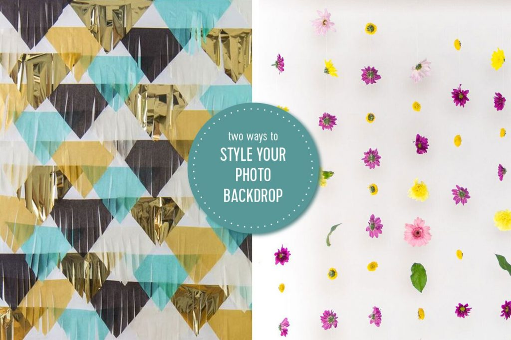 DIY Photo Backdrop for Parties